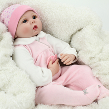 22inch Realistic Poseable Lifelike Vinyl New Baby Girl Reborn Doll Handcrafted Nursery Toys for Women