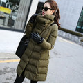 Desgaste neve Amassado Feminino Jaqueta Jaqueta de Inverno 2016 Mulheres de Slim-Longa de Algodão Acolchoado jaqueta Outerwear Casaco de Inverno