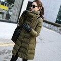 Nieve desgaste Wadded Chaqueta Femenina 2016 Chaqueta de Invierno Mujeres Largo de Algodón Acolchado ropa de Abrigo chaqueta Abrigo de Invierno