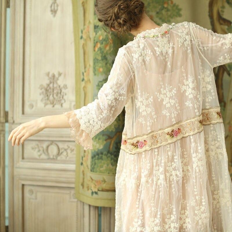 LYNETTE'S CHINOISERIE printemps automne femmes Vintage broderie Mori filles Cardigan