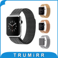 22mm 24mm milanesa de bucle de la correa de acero inoxidable reloj banda magnética corchete hebilla enlace pulsera para iwatch apple watch 38mm 42mm