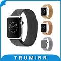 22mm 24mm milanese laço cinta faixa de relógio de aço inoxidável fivela de fecho magnético pulseira link para iwatch apple watch 38mm 42mm