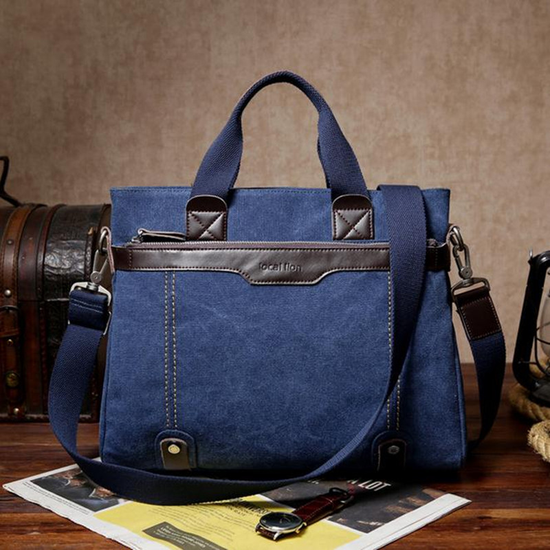 ФОТО Canvas man bag Business Men's Briefcase Casual computer bag handbags Shoulder diagonal package Tote sac a main
