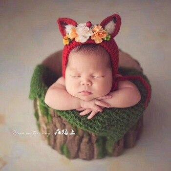 Newborn Photography Vintage Bark Bowl Baby Wood Basket photo props Infant Rustic backdrop Match Stuffer Filling