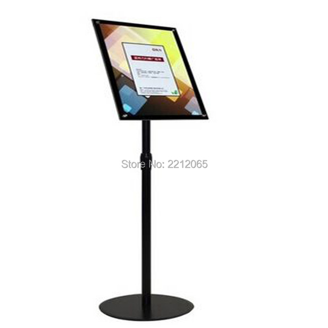 A4 Adjustable Poster Sign Holder Floor Stand With Black Acrylic