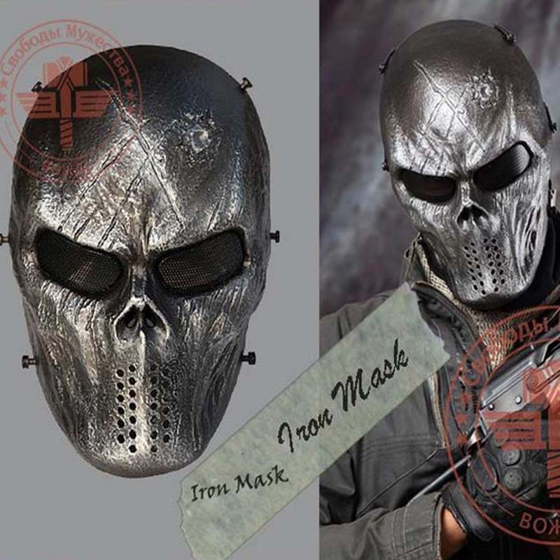 Military Tactical Mask Iron Mask Outdoor Army Full Face Airsoft Paintball Halloween Horror Gost Skull Masks Drop Shipping Mask Rom Mask Venicemask Horror Aliexpress