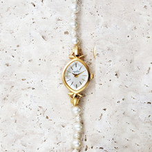 Japanese women's luxurious retro natural freshwater pearl agete bracelet
