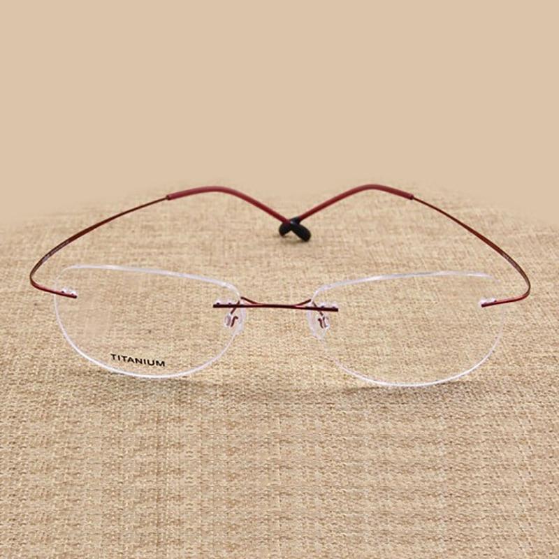 Moda Çerçevesiz Gözlük Çerçeve Optik Gözlük Titanyum Bellek - Elbise aksesuarları - Fotoğraf 6