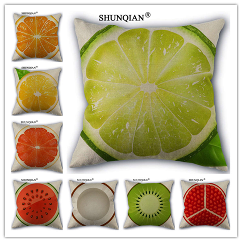 Knowledgeable Fashion High Quality Cotton Linen Fruit Pattern Pillowcase Decorative Throw Pillow Case For Home Pillow Cover Wjy417 2 Solar