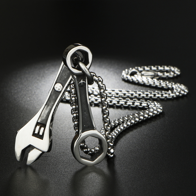 Wrench Spanner Pendants Necklace