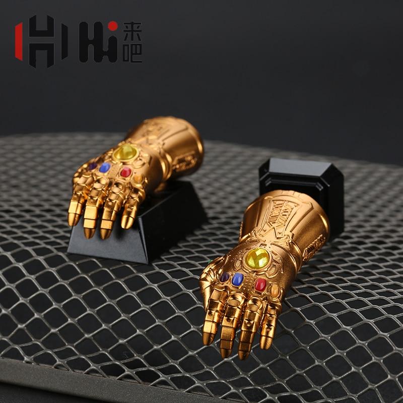 HolyOOPS High-end Customized Key Cap For Marvel Thanos Infinity Gauntlet Mechanical Keyboard Enter ESC Keycap Artwork