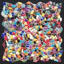 mosaico de colores de azulejos backsplash azulejos de mosaico de vidrio iridiscente arte multicolor materiales de arte deco de la pared de la cocina