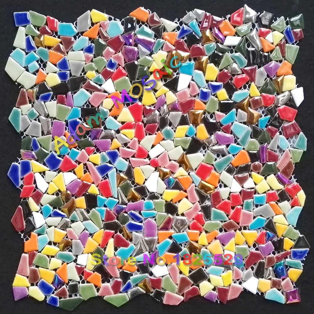 - Mosaic Tile Colors Backsplash Iridescent Glass Mosaic Tiles Art