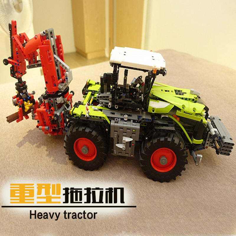 New 1977Pcs Lepin 20009 Technic Ultimate Series Mechanical Heavy Tractors Building Blocks Bricks Toys 42054 boy gift 2017 new lepin 20009 1977pcs technic claas xerion 5000 trac vc model building kits blocks bricks compatible toys gift with 42054