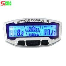 Sunding ABS проводной ЖК-Дисплей велосипедный велосипед Велоспорт компьютер одометр спидометр секундомер велометр SD-558A