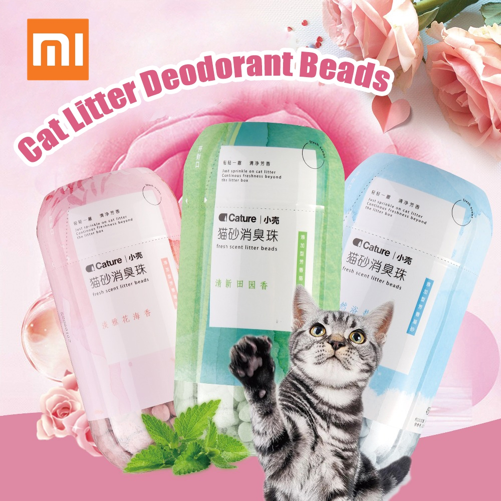 Xiaomi Mijia Cature Cat Litter Deodorant Beads 450ml Odor Removal Cat Litter Deodorizer Fresh Air Pet Litter Cleaning Supplies