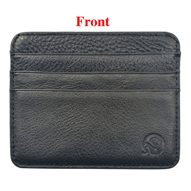 New Arrival Mini Wallets 12 Colours Ultra-thin Card Holder Mens Business Small Genuine Leather Purse Leather Card Case 6 Slots 1