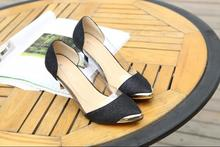 Women Wedding pumps Black/Gold/Silver pointed toe