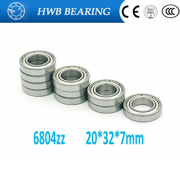 6804ZZ Ball Bearing 20x32x7 mm  ABEC-1 ABEC-3 ABEC-5(10PCS) Thin Section 6804 ZZ Bearings 6804 2Z 6804Z 61804ZZ 6903zz bearing abec 1 10pcs 17x30x7 mm thin section 6903 zz ball bearings 6903z 61903 z