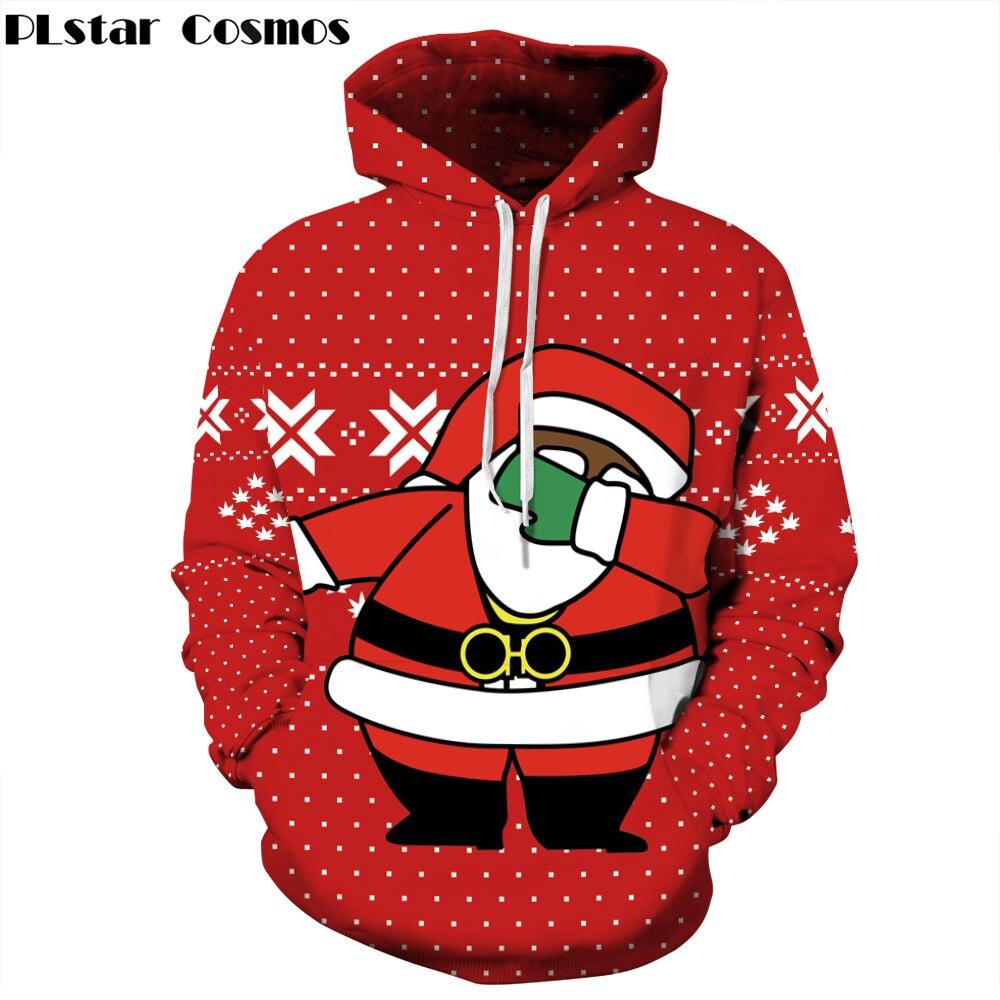 Us 1739 42 Offplstar Cosmos 2018 Nieuwe Mode Kerst Cadeau Hoodies Mannen Vrouwen Sweater 3d Print Kerst Kerstman Dunne Capuchon Trui In Hoodies En