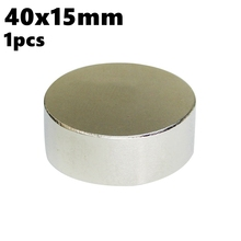 Super Powerful Magnetic Cylinder Magnets Disc 40mm x15mm NdFeB N35 Rare Earth Big Round Neodymium Magnet Water Meter 40*15