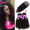Malaysian Curly Hair With Closure Malaysian Virgin Hair With Closure 3 Bundles With Closure Curly Weave Human Hair With Closure