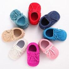 New PU Leather Suede Fringe Infant Toddler Baby Moccasins Soft Moccs Shoes Soft Soled Anti slip