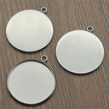 Stainless Steel Fit 8~25mm Glass Cabochon Base Setting Pendant Tray Blank Bezels Setting Base For Jewelry Making 20pcs/lot(China)