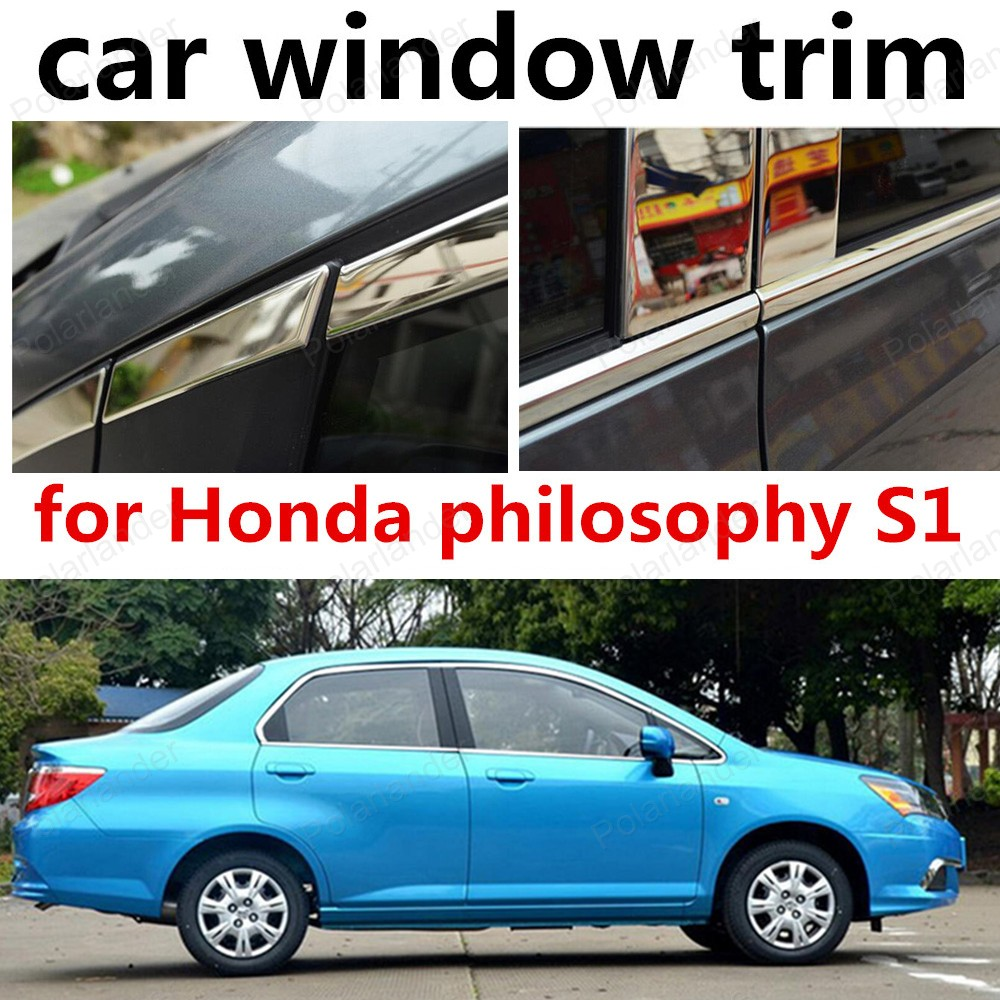new! Chromium Styling for Honda philosophy S1 Stainless steel Car window trim decoration cover 2015 hotselling stainless steel window cover trim window decoration trim middle center window pillars posts trim for edge 10pcs page 5
