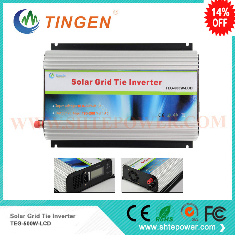 mppt 12v 24v inverter with lcd display 500w on grid tie micro inverter ac output 90-130v 190-260v 5000w single phrase on grid solar inverter with 1 mppt transformerless waterproof ip65 lcd display multi language