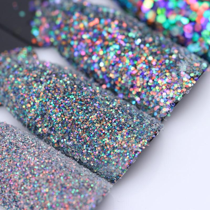 Colorful Shining Nail Glitter Sequins 2g Hexagon Flakies Powder Dust 0 15mm 1mm Manicure Nail Art