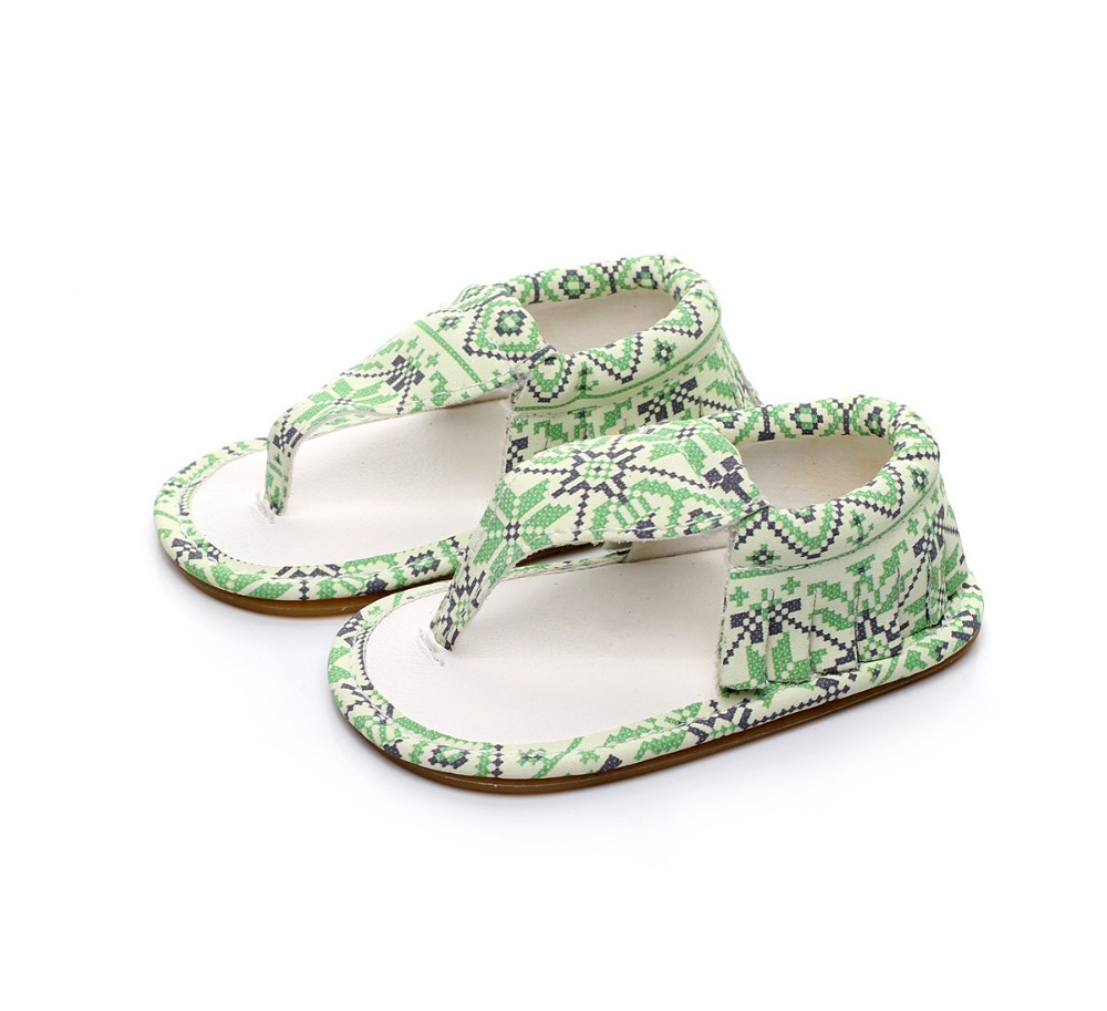 New Summer Baby Sandal Boys Girls Shoes Printing Style Fashion Shoes Newborn Infant Toddler Soft Rubber Sole Beach Prewalkers