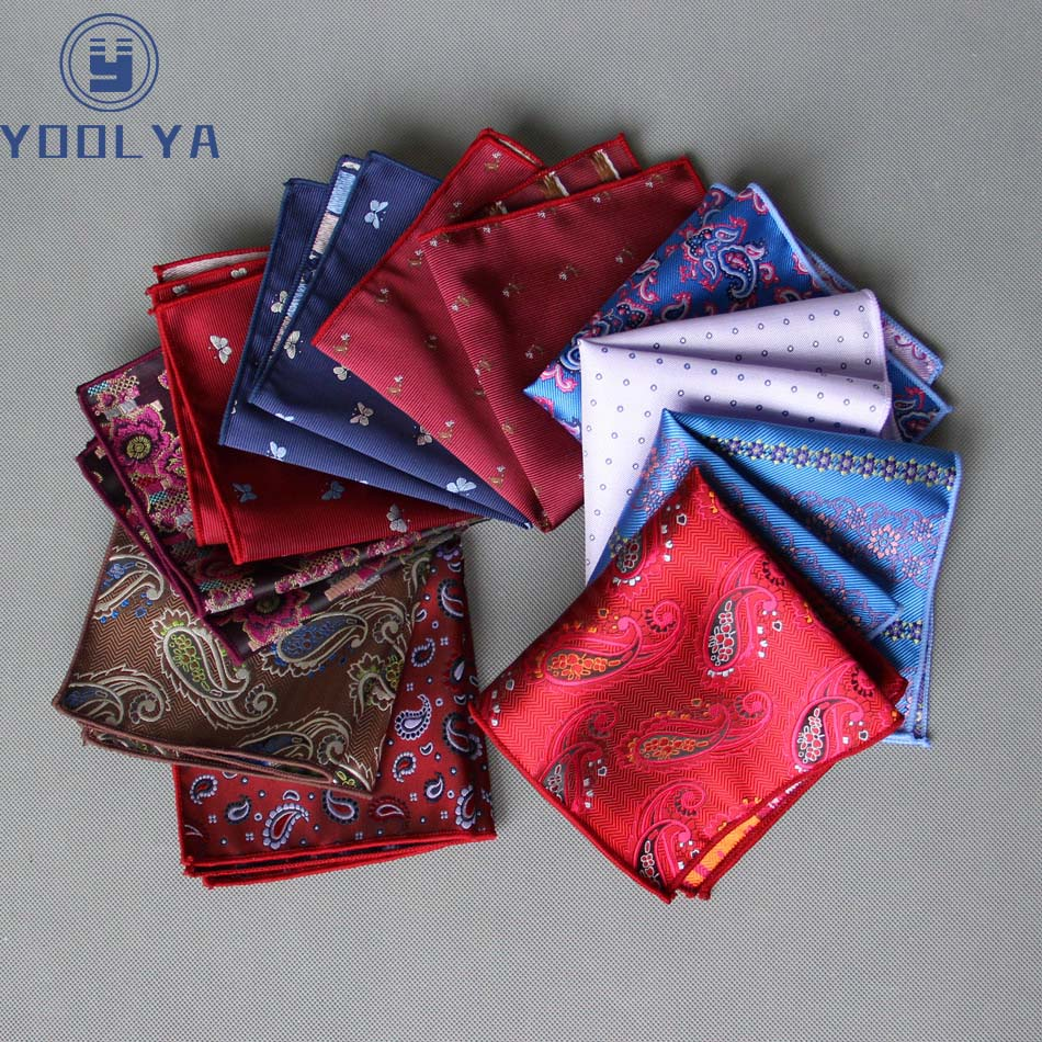 High Quality Men's Handkerchief Floral Paisley Rolled Edged Hanky Pocket Square 22cm Wedding Business Party Chest Towel Gift