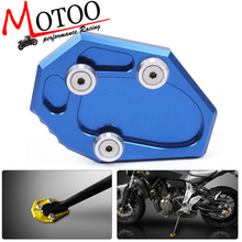 Motoo- FREE SHIPPING CNC Aluminum Motorcycle Side Stand Pad Enlargement Plate Kickstand Extension For Yamaha MT-07 MT07 2014-16