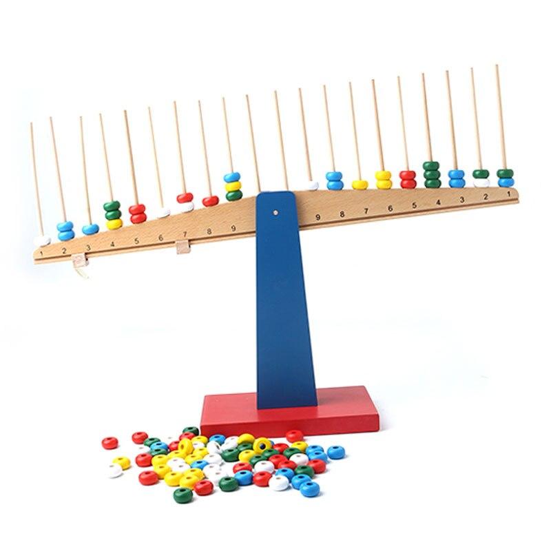 Montessori mathématiques matériaux perles Balance jeux éducatifs en bois jouets pour 3 ans Juguetes Montessoir E2864H