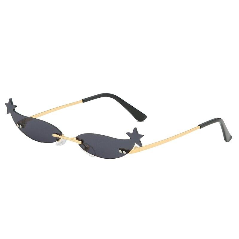 LongKeeper Small Mirror Sunglasses Women Brand Design Rimless Sun Glasses Ladies Punk Metal Travel Eyewear UV400 Gafas in Women 39 s Sunglasses from Apparel Accessories