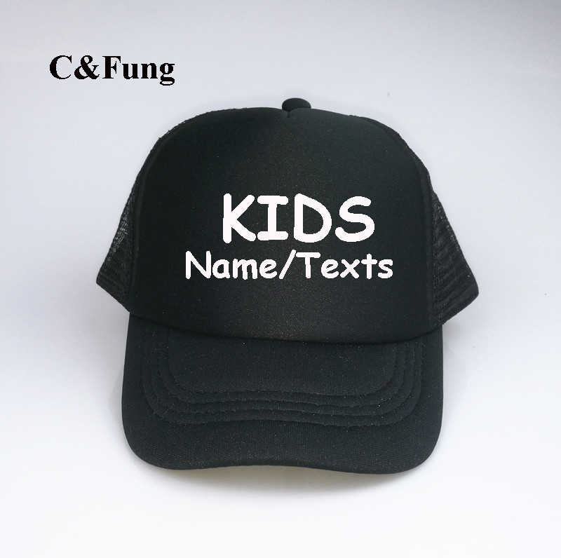 Custom KIDS Trucker Hats personalized w your Text very own snapback  adjustable Birthday Parties Special a8ba795882d