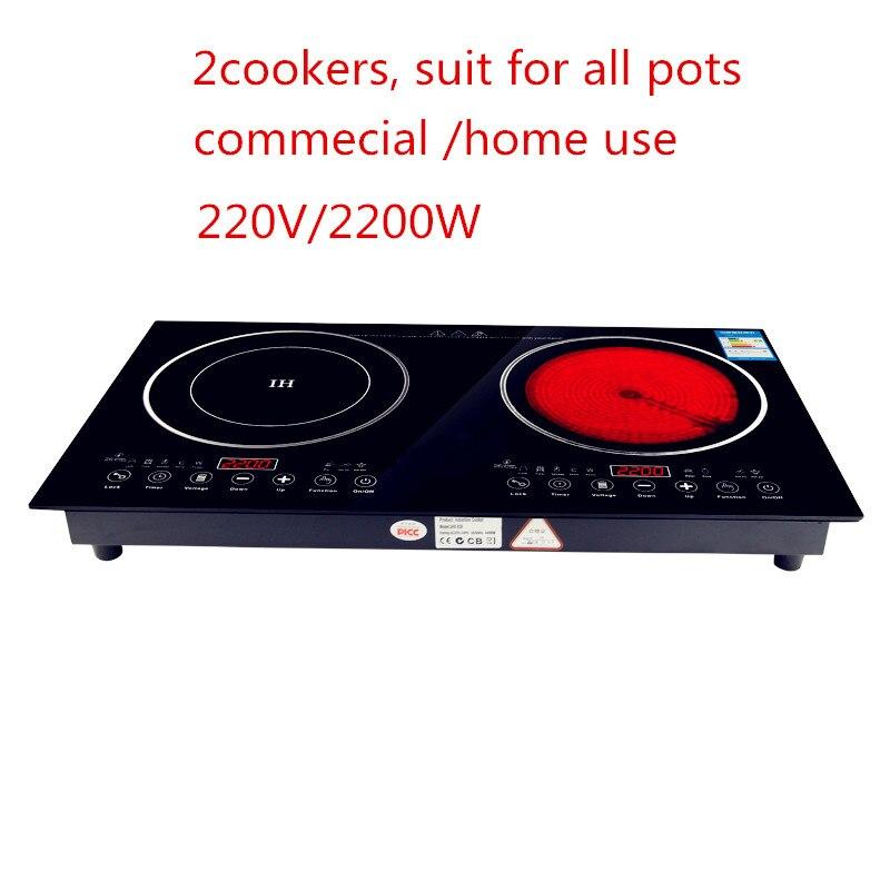 220 V 2200 W Elektryczna Kuchenka Indukcyjna Kuchenka Piec Naczyn