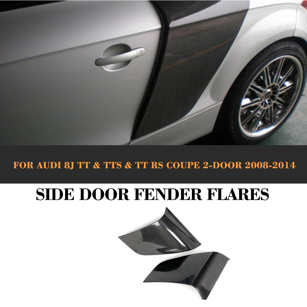Carbon Fiber Rear Side Door Fender Car guard board for Audi TT 8J TTS TTRS TT S Line Coupe 2 Door 07-14 R8 Style