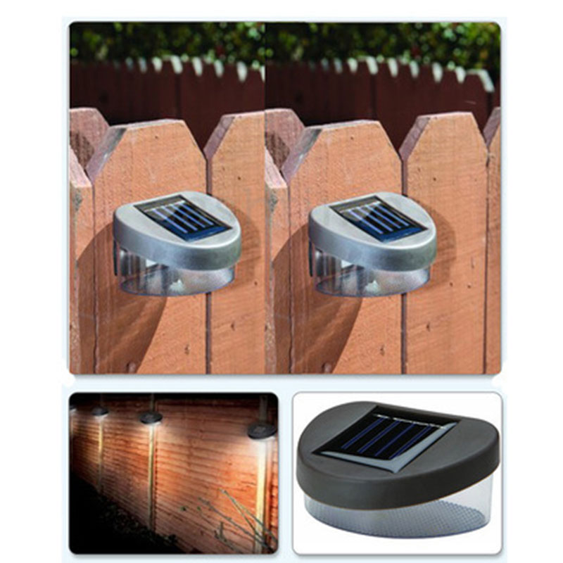Us 7 Outdoor Solar Ed Led Path Wall Landscape Mount Garden Fence Light Lamp New Abs Ip 44 Energy Saving Lighting Fixtures In Lamps From