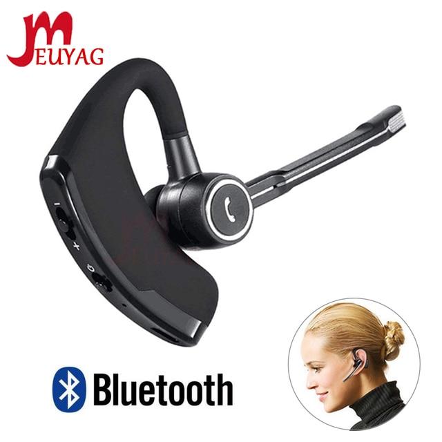 MEUYAG V8S Business Bluetooth Headset Wireless Earphone Car Bluetooth V4.1 Phone Handsfree earphones with mic For iPhone Xiaomi