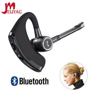 Image 1 - MEUYAG auriculares V8S inalámbricos por Bluetooth para coche, auriculares manos libres con micrófono para iPhone y Xiaomi