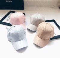 2018 Dad Hat Gorra Korean Version Of The College Wind Pure Color Light Board Suede Cap