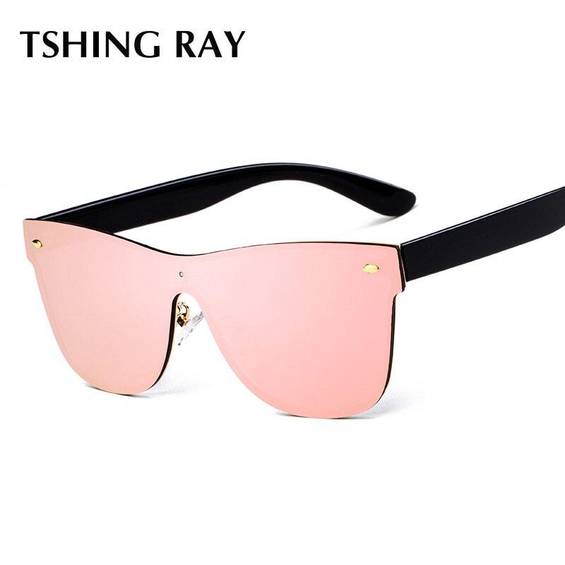 TSHING RAY Rimless Square Sunglasses Fashion Women Italy Brand Designer Celebrity Men Oversized Mirror Sun Glasses Female Gafas