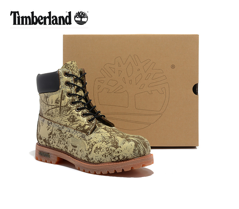 Original Super TIMBERLAND Animal Prints Men Premium Ankle Martin Boots,Man Genuine Leather Timber Outdoor Casual Shoes 10083