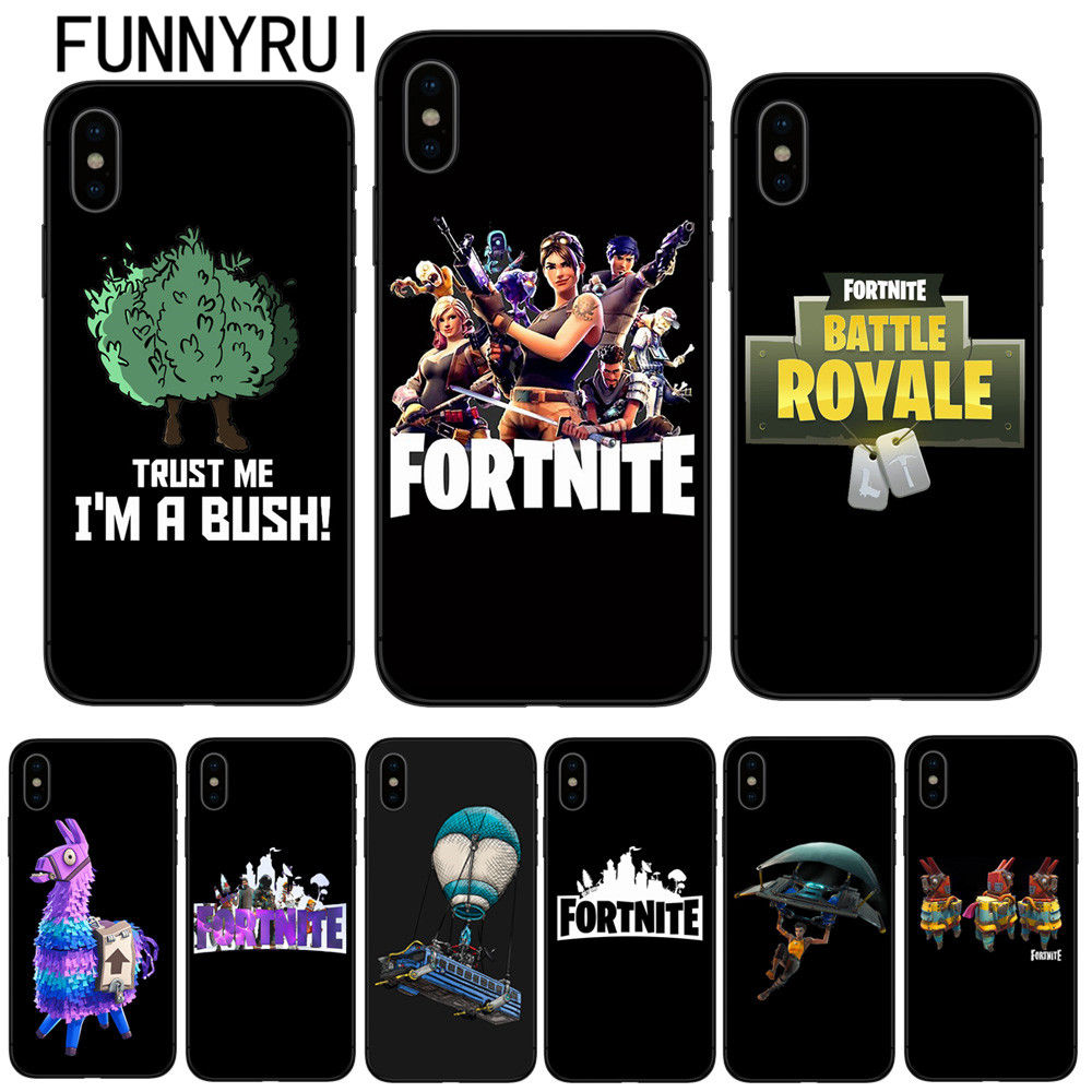 fortnite phone case soft silicone black tpu cover for apple iphone x 8 8plus 7 7plus 6 6s plus 5 5s sefaithinkapparel comfortnite phone case soft silicone - fortnite cover iphone se