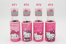 2016 hot selling 100% quality garantee new design Hello kitty  water bottle glass/ Student Cup / drinking bottle kids 350ML Cup