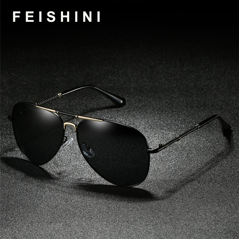 c92946b31e FEISHINI Original Brand Design Driver Women Sunglass UV Protection Elegant  HD Aviation Sunglasses Men Polarized Classic Cheap-in Sunglasses from  Women s ...
