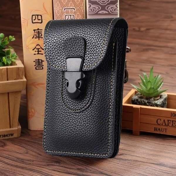2019 Men Waist Pack Bum Bag Pouch Waterproof Military Belt Waist Packs Molle PU Leather Mobile Phone Wallet Travel Tool