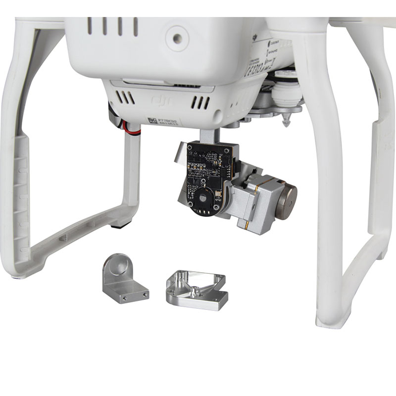 PTZ Motor Protection Accessories Gimbal Base Aluminum Cable Protection For DJI Phantom 3 White